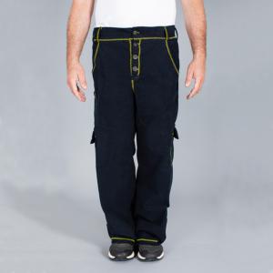 Tuta Italia vendita Abbigliamento Pantalone uomo lungo blu con rifiniture zig-zag gialle