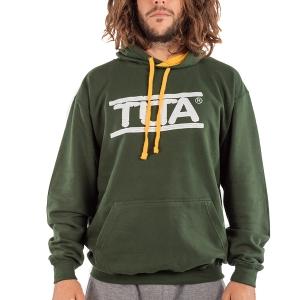 Felpa unisex logo grande-Verde bosco - Oro