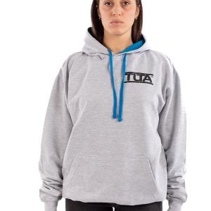 Felpa-unisex-logo-piccolo-Grigio-chiaro-Blu-zaffiro