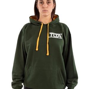 Felpa unisex logo piccolo-Verde bosco Oro