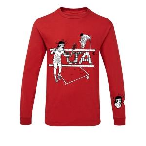 Hammer maglia girocollo manica lunga Tennis Rosso