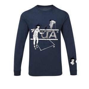 Hammer maglia girocollo manica lunga Tennis blu scuro